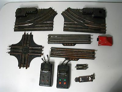 Lionel 10 pc Junk Lot 027 Gage Track, Switch Track, Bumper & 2 Vintage Switches