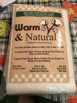 warm and natural needled cotton batting