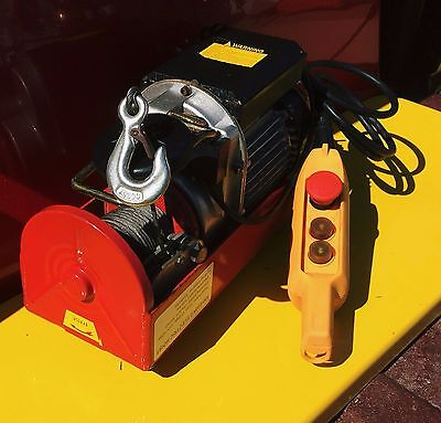 Electric Hoist for Overhead Lifting - Winch - Up to 1,300 Lbs. - Heavy Duty - NR