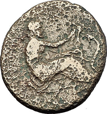 TRIKKA in THESSALY 400BC Nymph Asclepius Feeds Dove to Serpent Greek Coin i58705