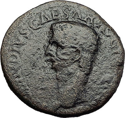 CLAUDIUS 41AD Rome Ceres Original Genuine Authentic Ancient Roman Coin i58710