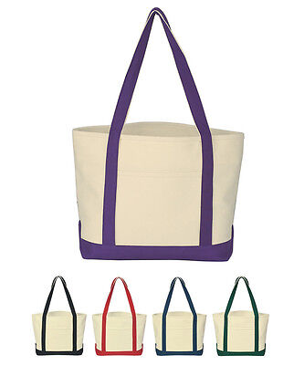 24 Ounce Cotton Canvas Boat Tote Bags Lot Of 25