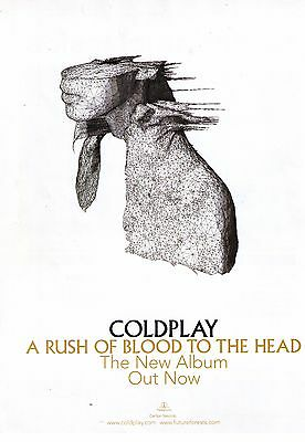 """2002 Coldplay """"A Rush Of Blood To The Head"""" Album Trade Print Advertisement"""