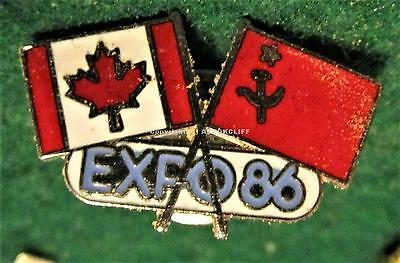 EXPO 1986 Vancouver B.C. Russia & Canada FLAGS Pin Mint