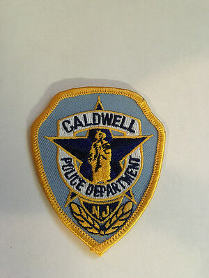 K2) Caldwell New Jersey NJ Police Officer Patch