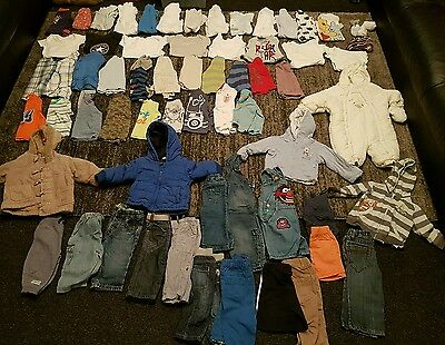 Baby Boys 6-9 months clothes bundle 66 items 2