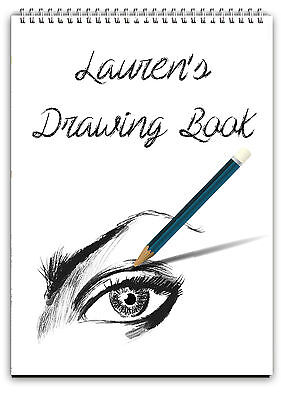 A4 Personalised Sketch Book /Personalised Drawing Pad/A4 Notebook/ Note Pad A4