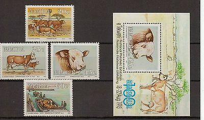 Namibia:1993:Centenary of Simmentalar Cattle in Namibia,Set.& Min/Sheet,MNH.
