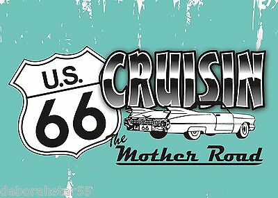 ROUTE 66 Magnet USA MOTHER ROAD Tool Box Fridge Magnet Metal MAGNET