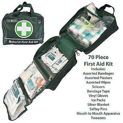 Car Motorist 70pc First Aid Kit Home Camping Travel Work Office Emergency