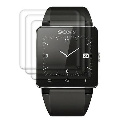 kwmobile 3X  SCREEN PROTECTOR FOR SONY SMARTWATCH 2 CRYSTAL CLEAR DISPLAY
