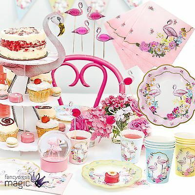 Talking Tables Truly Flamingo Vintage Tea Party Wedding Summer Partyware Set Lot