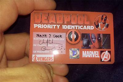 DEADPOOL Identicard, with your name printed onto it