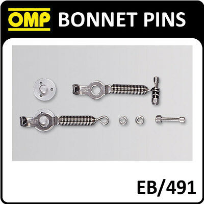 Eb/491 Omp Racing Spring Clips To Fix Hatchback Car Boot Lid - Pack Of 2!