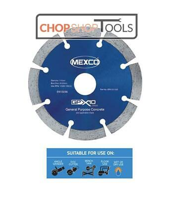 "Mexco PRO 115mm 4 1/2"" DIAMOND Cutting DISC for Concrete Brick Tile Metal Stone"