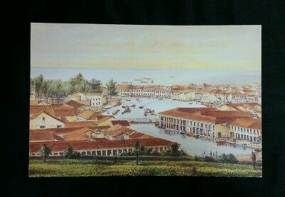 old SILK AIR the regional wing os Singapore Airlines postcard Fort Canning Hill