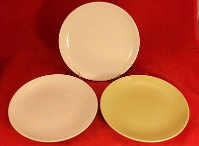 Russel Wright Iroquois Casual Set of 2 White & 1 Avocado Bread & Butter Plates