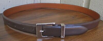 Ralph Lauren Women's Genuine Leather Belt Size M/30-32.Brown
