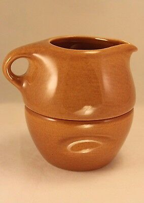 Russel Wright Iroquois Casual Ripe Apricot Stacking Sugar Creamer Set
