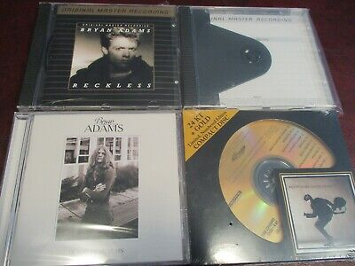 Bryan Adams Mfsl Reckless & Cuts Like A Knife Audio Fidelity 24 Karat Gold Cd's