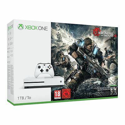 Xbox One S Gaming Console 1TB HDD With Gears Of War 4 Video Game White