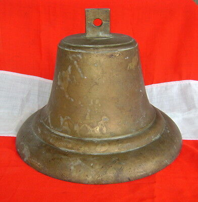 Vintage Solid Brass Ship's Bell - Real Ship Salvage!!