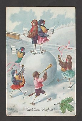 Dressed BIRDS Play Music in Snow – A/S C. Ohler