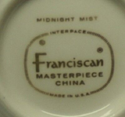 Franciscan Midnight Mist Cup Coffee Tea Ware Masterpiece China  NB215