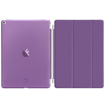 Purple Slim PU Leather Smart Magnetic Stand Cover Case for Apple iPad Pro 12.9""