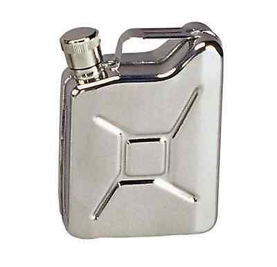 Jerry GI Gas Can Jug Stainless Whiskey Alcohol Booze Pocket Mini Steel Flask