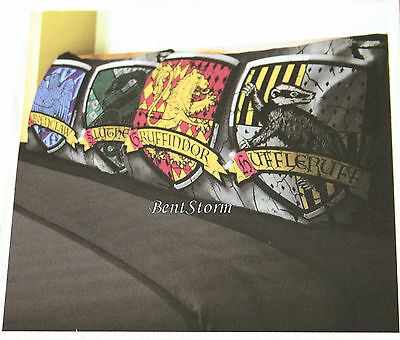 Harry Potter Deathly Hallow Hogwarts House Crests 2 Pack Pillow Case Pillowcase