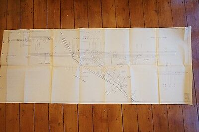 1976 London & Birmingham Line Bletchley Railway Track Plan