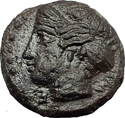 HIMERA in SICILY 415BC NYMPH & Success Wreath Genuine Ancient Greek Coin i58767
