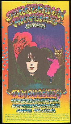 JEFFERSON AIRPLANE & OTHERS 1968 Concert Handbill Grande Ballroom TIM BUCKLEY