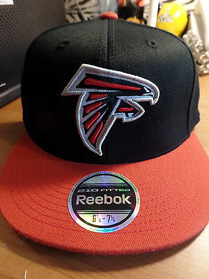 96411a66887 Atlanta Falcons NFL Premium 210 Fitted Flex Flat Bill Brim Hat Cap Team  Reebok