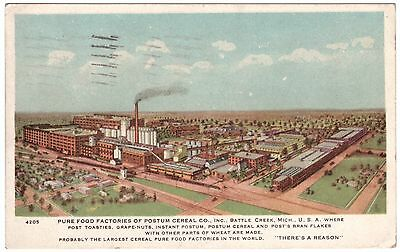 Postum Cereal Co Factory Battle Creek Mi Michigan Post Toasties 1926 Postcard S