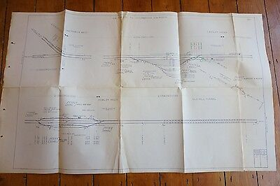1976 Galton Junction to Stourbridge Railway Track Plan Rowley Regis Tops