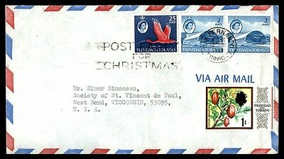 Trinidad & Tobago Post Early For Christmas Slogan Pmk on cover to US