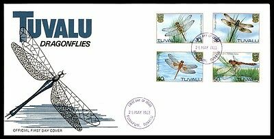 May 25, 1983 Tuvalu Dragonflies First-Day Fine Cover With Cachet