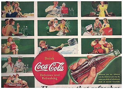 The Drink Everybody Knows A Grouping of Other Coke Adverts in 1939 Coca Cola Ad