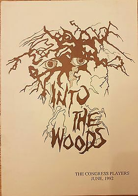 Into The Woods The Congress Players Theatre Programme 1992