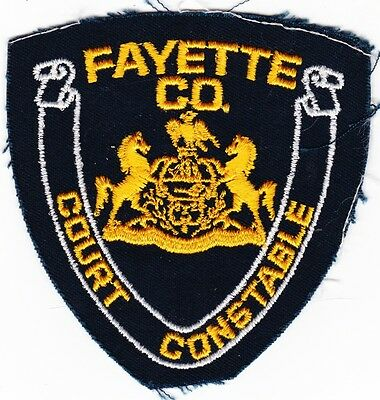 Fayette Co County Police Court Constable Patch Wv  Pa Ga Tn Oh ? Vintage