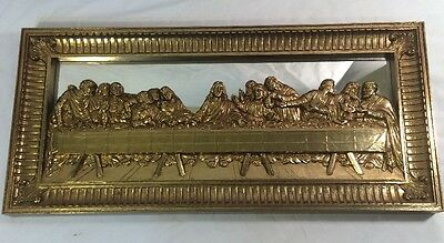 Gold Framed Mirrored Last Supper Picture Wall Hanging