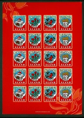 Aland Christmas Seal 2008 Mnh Unfolded Full Sheet  Self-Adhesive.See Description