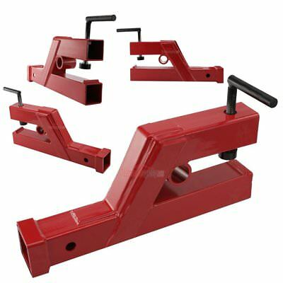 "Clamp On Trailer Receiver Hitch 2"" Deere Bobcat Tractor Bucket Adapter Red"