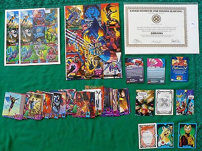 55 DC + 59 Marvel trading cards + 6 promo sheets + diploma; 1991-98, one owner!