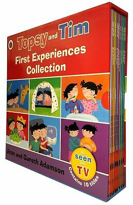 Jean Adamson Topsy & Tim Series 10 Books Collection Topsy & Tim Go Camping NEW