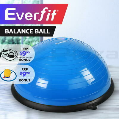 Everfit Balance Ball Trainer Yoga Gym Exercise Fitness Core Pilates Half Blue