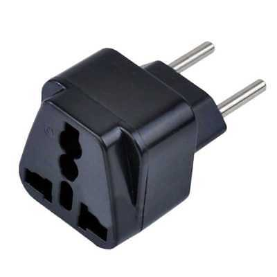 Adaptador Enchufe Uk Ingles A Europeo Ue Asia Usa Eeuu Adapter Plug Europe Red
