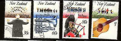 New Zealand 1986 MUsic Complete  set - Fine Used
